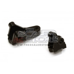 Integy TRX-4 Aluminum Front Links Mounts (2) BLACK