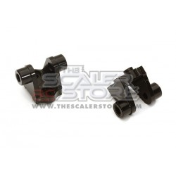 Integy TRX-4 Aluminum Rear Links Mounts (2) BLACK