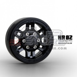 Gmade 1.9 NR02 Beadlock Wheels BLACK