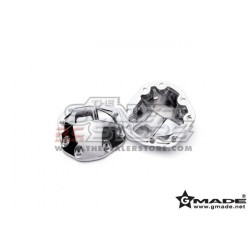 Gmade R1 Axle Chrome Differential Covers (2)