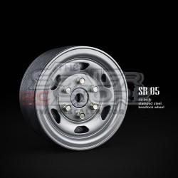Gmade 1.9 SR05 Beadlock Stamped Steel Wheels SEMIGLOSS...