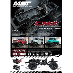 MST CMX 1/10 4WD Off-Road Car Kit WITHOUT 267mm KIT